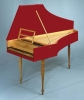 French Harpsichord with two unison choirs, lid, flap and music desk