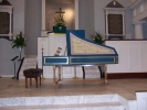 Flemish Double Manual Harpsichord by Anne Acker, At Church 2