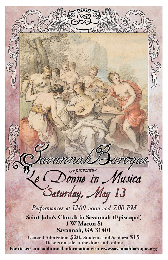 Savannah Baroque - Le Donne in Musica poster