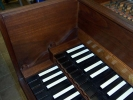Double Manual French Harpsichord by William Dowd, keyboard end