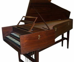 Double Manual French Harpsichord by William Dowd, full open