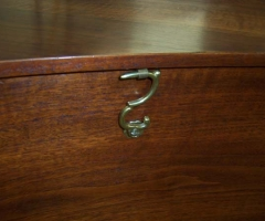 Double Manual French Harpsichord by William Dowd, lid hook