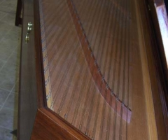 Double Manual French Harpsichord by William Dowd, long inner view