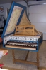 Flemish Double Manual Harpsichord by Anne Acker, sm front view