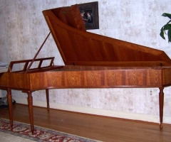 Fortepiano after Stein by Walter Bishop and Anne Acker, side view