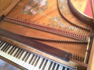 Single Manual English Harpsichord after Mahoon by Peter Redstone, jackrail off