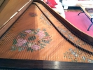 Single Manual English Harpsichord after Mahoon by Peter Redstone, soundboard painting