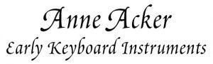 Anne Acker Early Keyboard Instruments Logo Logo