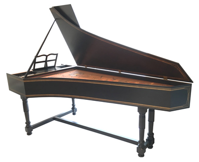 Single Manual Franco-Flemish harpsichord by Richard Kingston, 2002