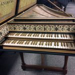 Front view of Double Manual Flemish Harpsichord by Robert Hicks 1988/2017