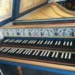 Image, Keyboard of Flemish Double Manual Harpsichord by Anne Acker, 2009