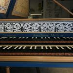 Image, Nameboard of Flemish Double Manual Harpsichord by Anne Acker, 2009