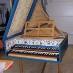 Image, Front View of Flemish Double Manual Harpsichord by Anne Acker, 2009