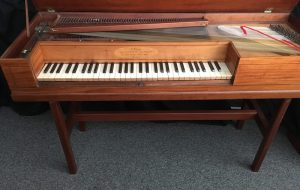 Image of English Square Piano by Christopher Ganer 1790