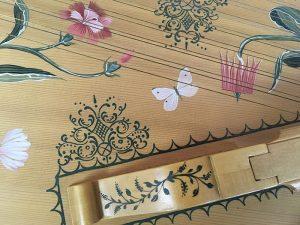 Flemish Muselaar / Virginal soundboard details