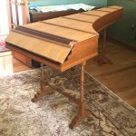 Image of a harpsichord with closed case