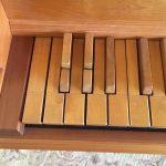 Detail image of harpsichord keyboard
